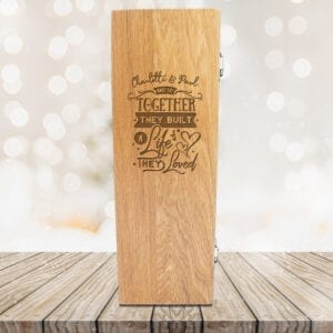 Personalised Luxury Wooden Wine Presentation Box - And so Together.....