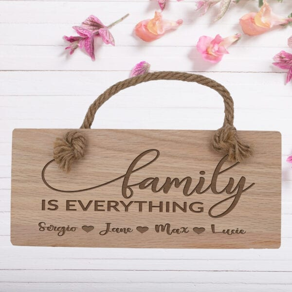 Personalised Wooden Family Wall Plaque